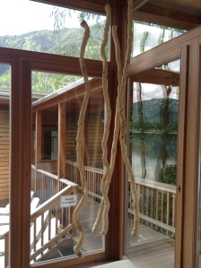 Blockhaus mit Seeblick Sauna
